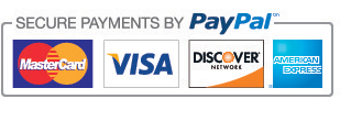 Secure payments via Paypal.
